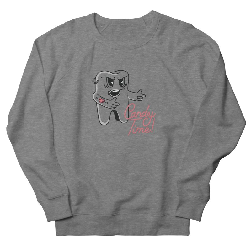 Mean Tooth Men's French Terry Sweatshirt by Astrovix