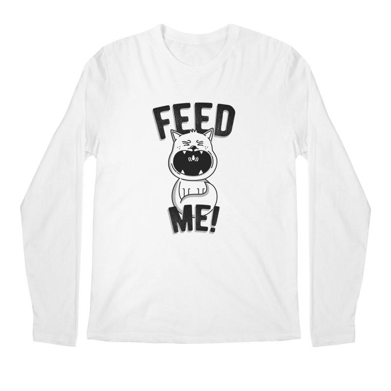 Feed Me! Men's Regular Longsleeve T-Shirt by Astrovix