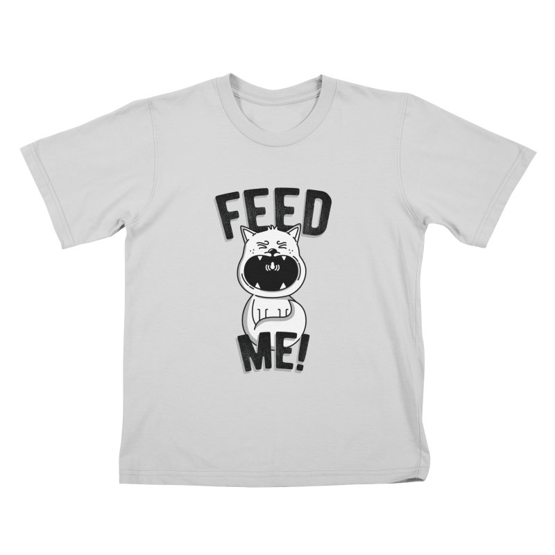 Feed Me! Kids T-Shirt by Astrovix