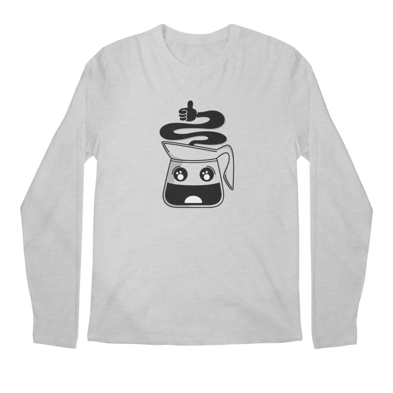 Coffee Pot Genie Men's Regular Longsleeve T-Shirt by Astrovix