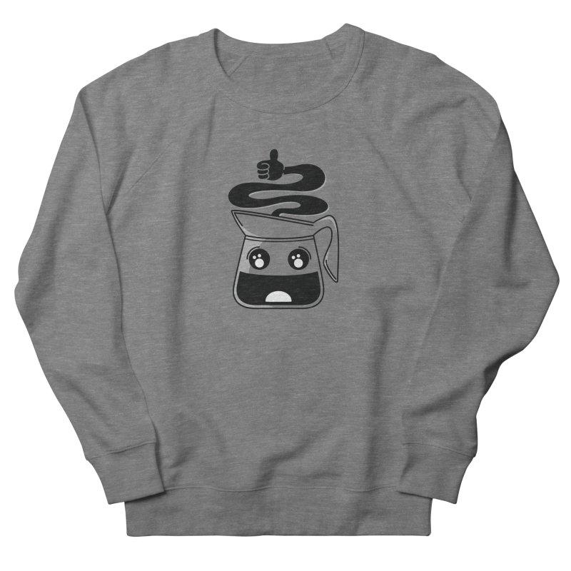 Coffee Pot Genie Men's French Terry Sweatshirt by Astrovix