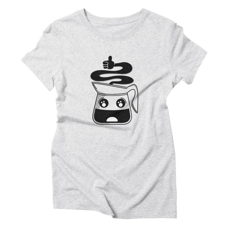 Coffee Pot Genie Women's Triblend T-Shirt by Astrovix