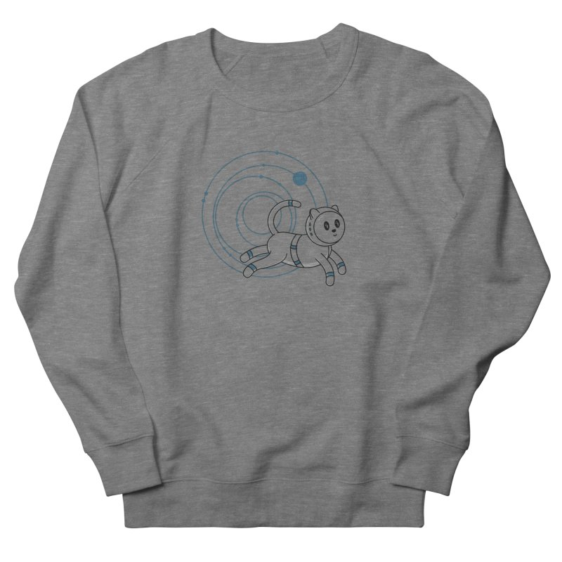 Kowkavix, The Famous Space Cat Men's French Terry Sweatshirt by Astrovix