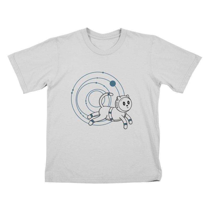 Kowkavix, The Famous Space Cat Kids T-Shirt by Astrovix
