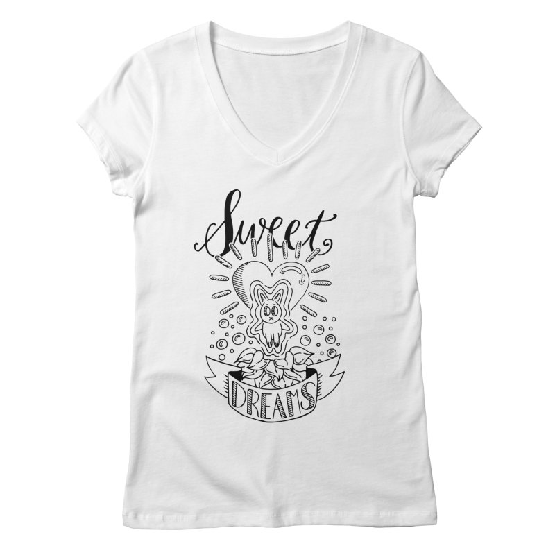Sweet Dreams Women's V-Neck by Astrovix
