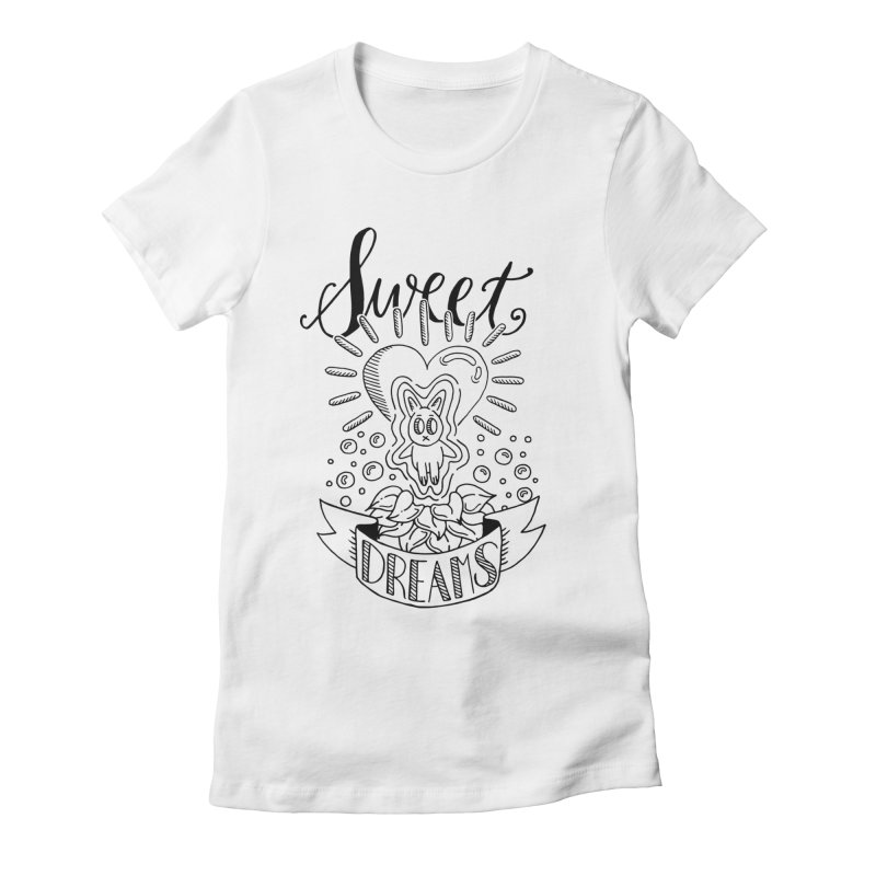 Sweet Dreams Women's Fitted T-Shirt by Astrovix