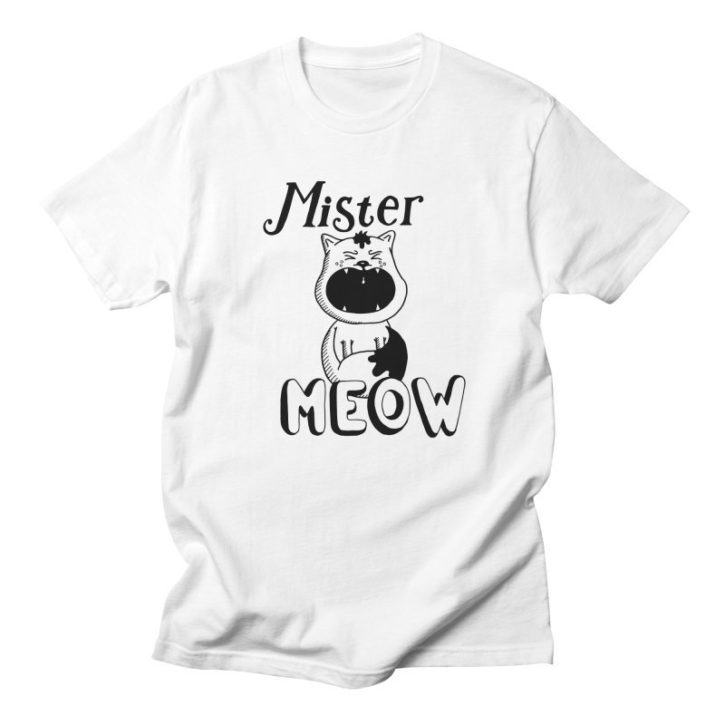 Mister Meow Men's T-Shirt by Astrovix