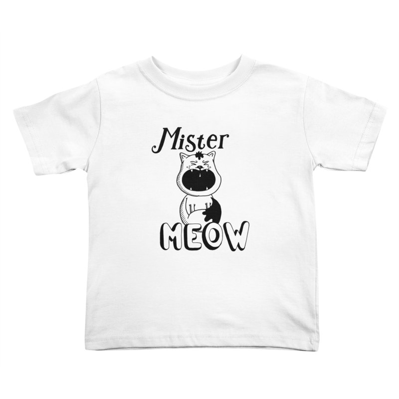 Mister Meow Kids Toddler T-Shirt by Astrovix