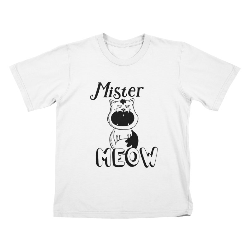 Mister Meow Kids T-Shirt by Astrovix