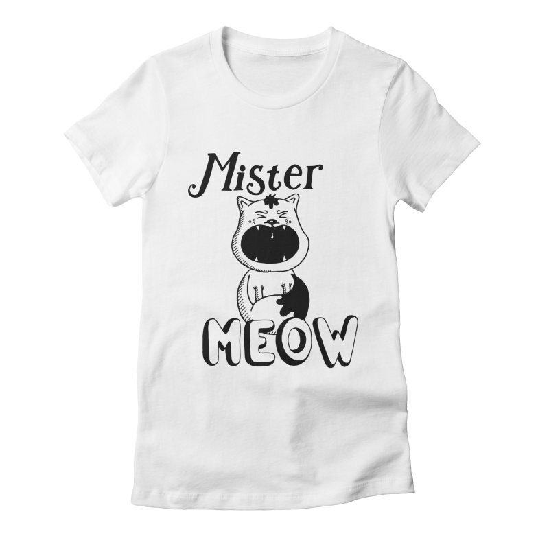 Mister Meow Women's Fitted T-Shirt by Astrovix