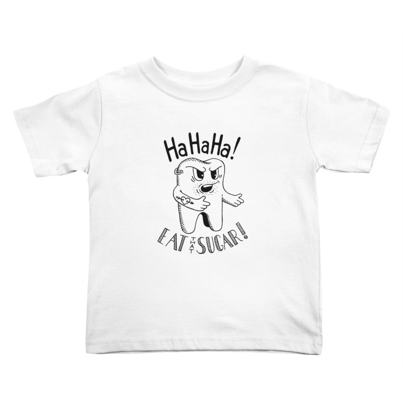 Mean Tooth Kids Toddler T-Shirt by Astrovix