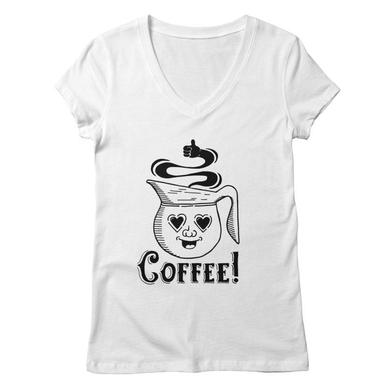 Coffee Pot Genie Women's V-Neck by Astrovix