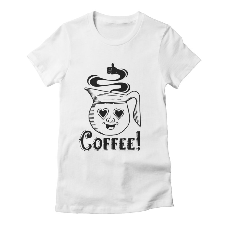Coffee Pot Genie Women's Fitted T-Shirt by Astrovix