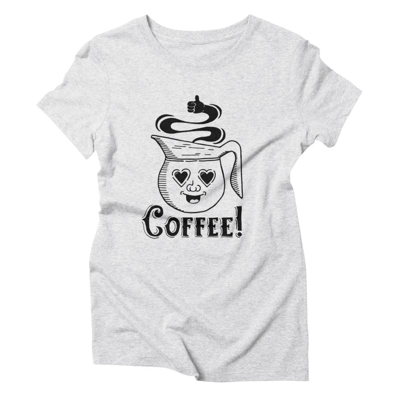 Coffee Pot Genie Women's Triblend T-Shirt by Astrovix