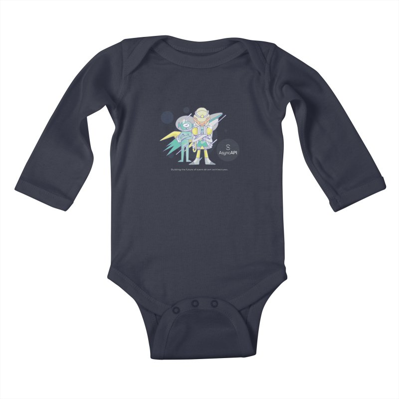 Eve & Chan: AsyncAPI 2.0.0 launch Kids Baby Longsleeve Bodysuit by AsyncAPI official shop