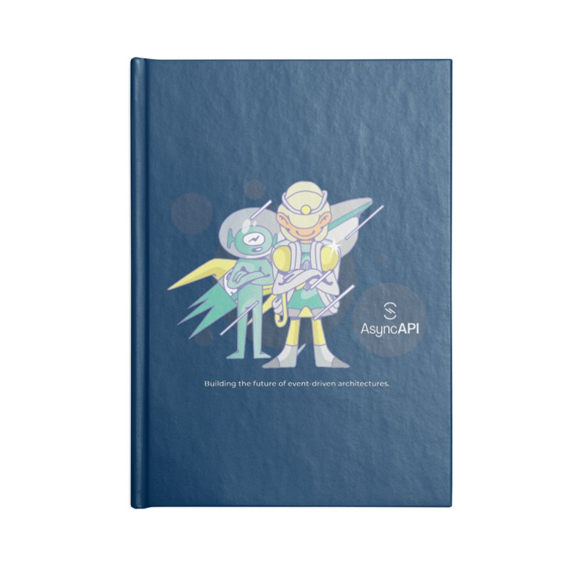 Eve & Chan: AsyncAPI 2.0.0 launch Accessories Notebook by AsyncAPI official shop