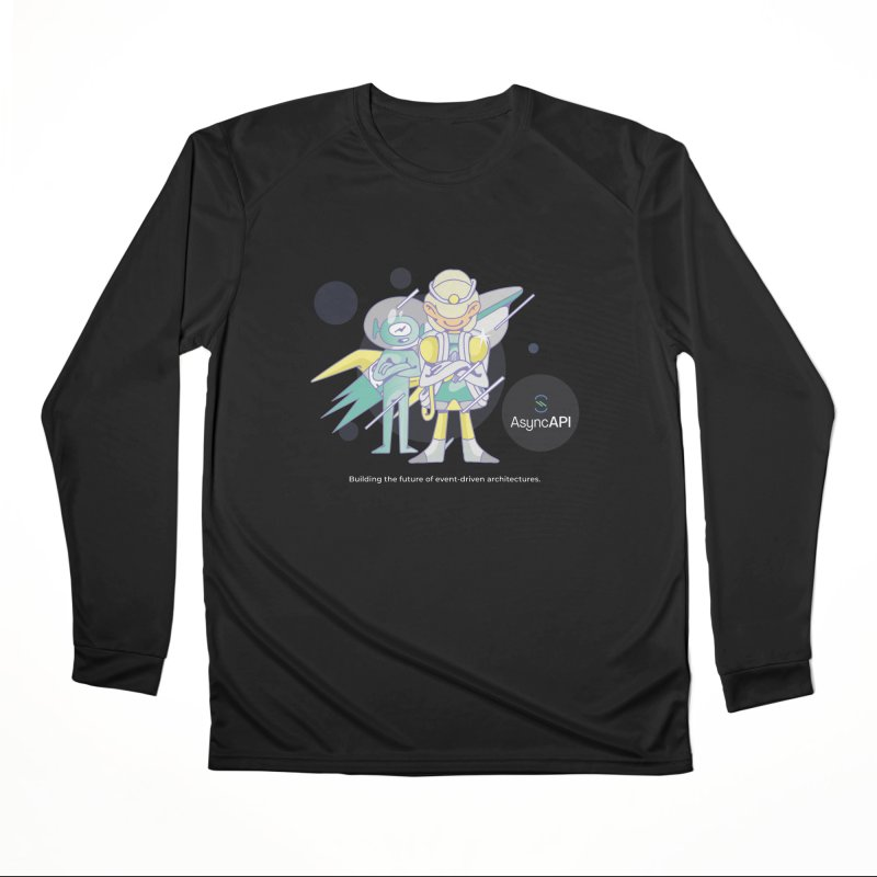 Eve & Chan: AsyncAPI 2.0.0 launch in Women's Performance Unisex Longsleeve T-Shirt Black by AsyncAPI official shop