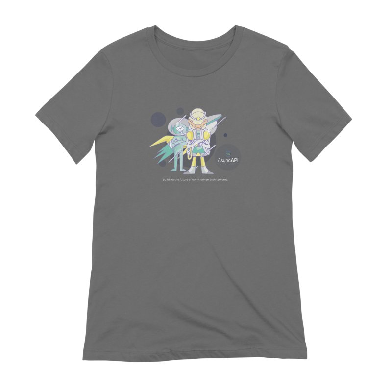 Eve & Chan: AsyncAPI 2.0.0 launch Women's Extra Soft T-Shirt by AsyncAPI official shop