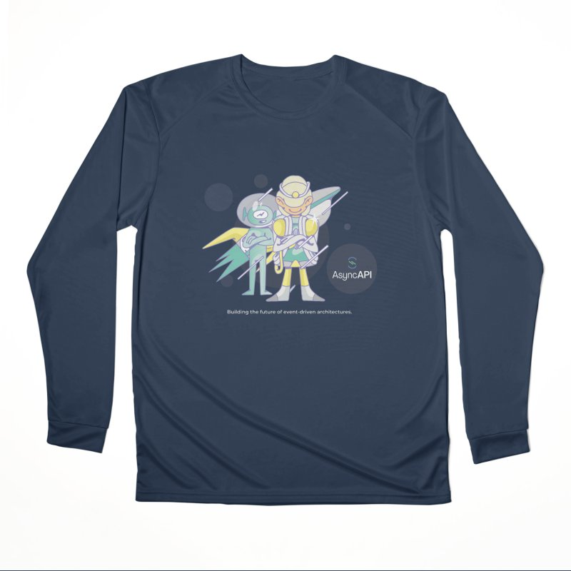 Eve & Chan: AsyncAPI 2.0.0 launch Women's Performance Unisex Longsleeve T-Shirt by AsyncAPI official shop