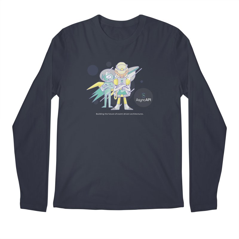 Eve & Chan: AsyncAPI 2.0.0 launch in Men's Regular Longsleeve T-Shirt Midnight by AsyncAPI official shop