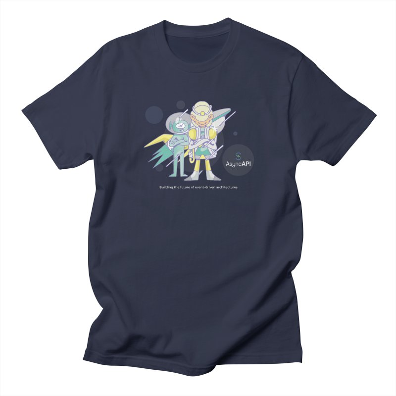 Eve & Chan: AsyncAPI 2.0.0 launch in Men's Regular T-Shirt Navy by AsyncAPI official shop
