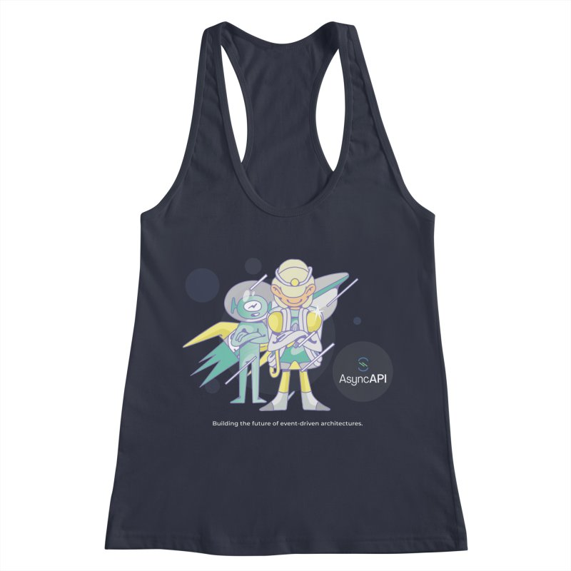 Eve & Chan: AsyncAPI 2.0.0 launch in Women's Racerback Tank Midnight by AsyncAPI official shop