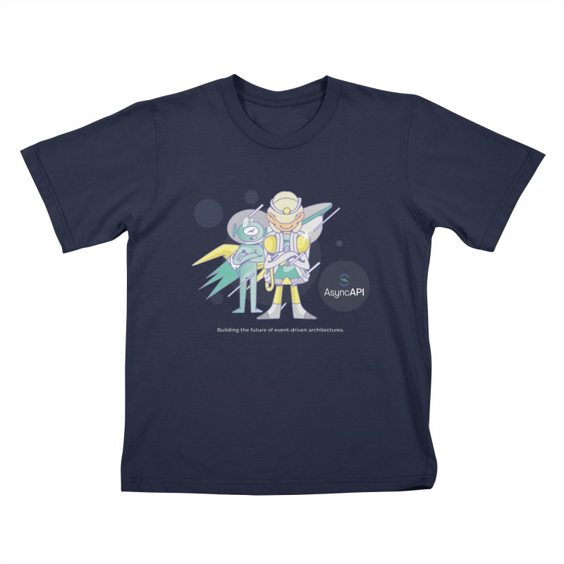 Eve & Chan: AsyncAPI 2.0.0 launch Kids T-Shirt by AsyncAPI official shop