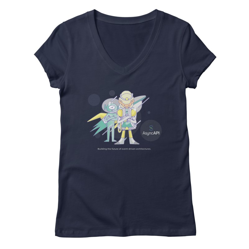 Eve & Chan: AsyncAPI 2.0.0 launch Women's V-Neck by AsyncAPI official shop