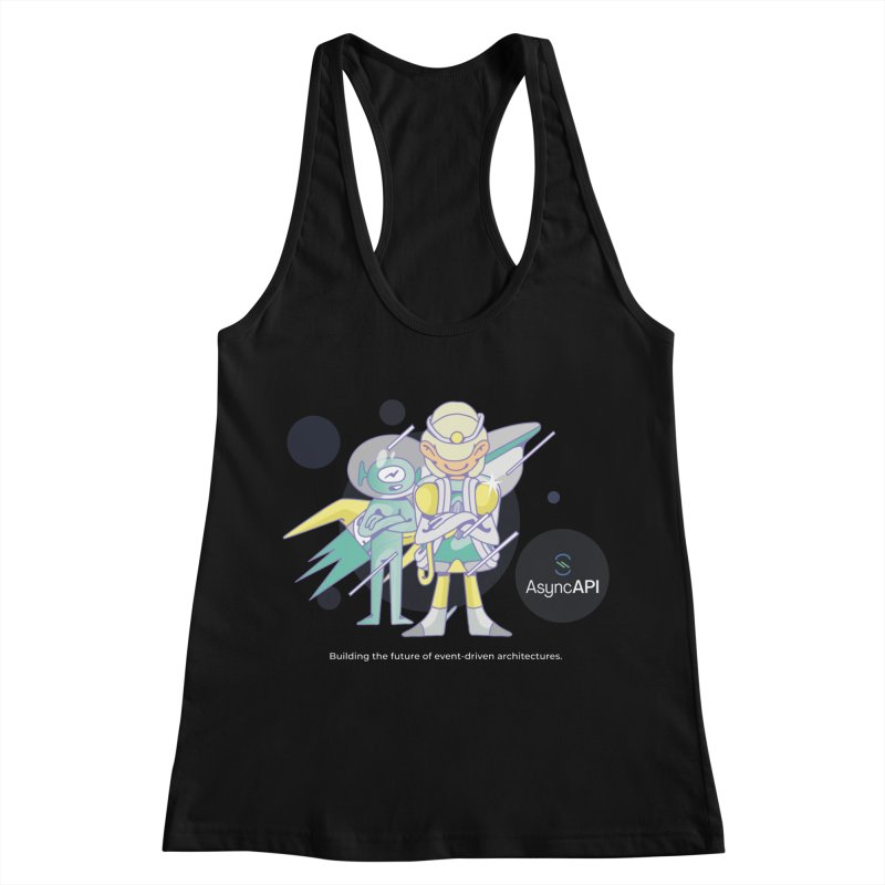 Eve & Chan: AsyncAPI 2.0.0 launch Women's Racerback Tank by AsyncAPI official shop
