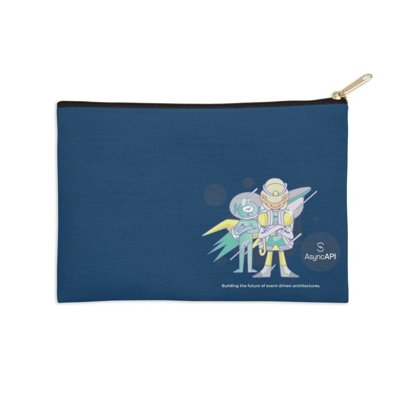 Eve & Chan: AsyncAPI 2.0.0 launch Accessories Zip Pouch by AsyncAPI official shop