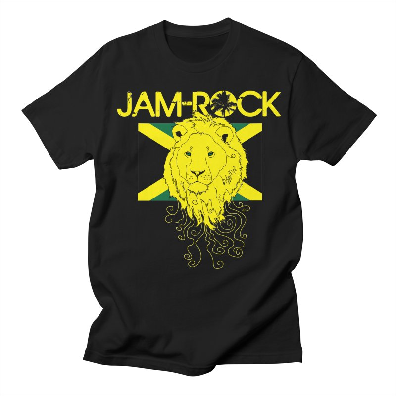 Jam Rock in Men's T-Shirt Black by A Thousand Rays