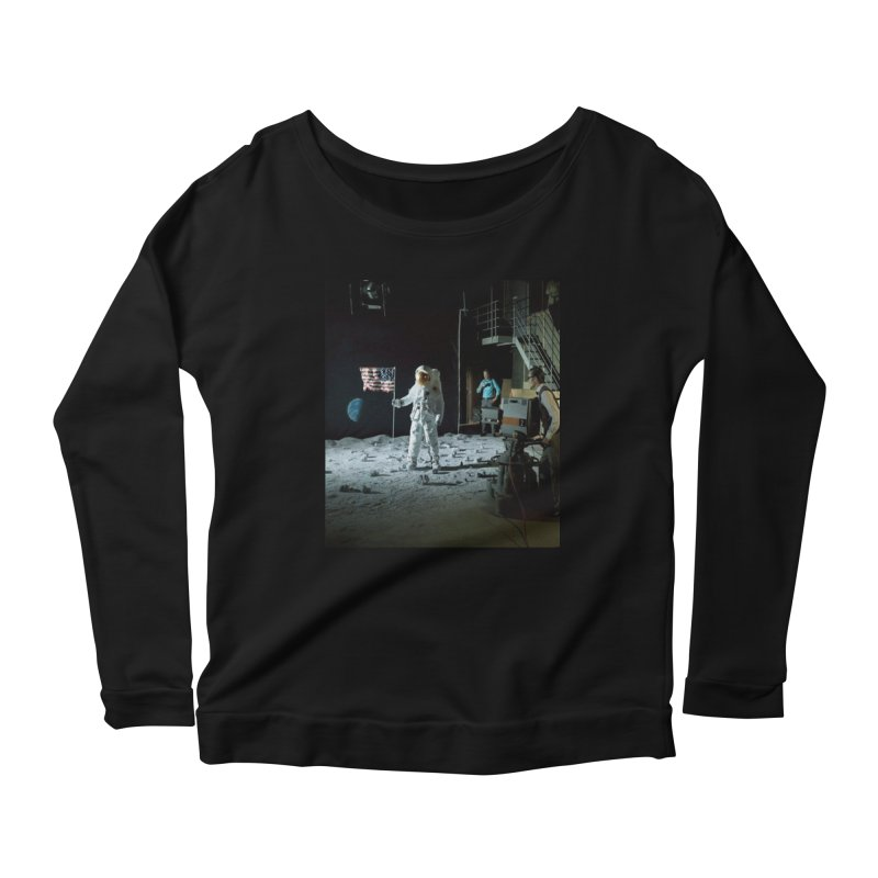 This is a test Women's Scoop Neck Longsleeve T-Shirt by Feed me tacos!