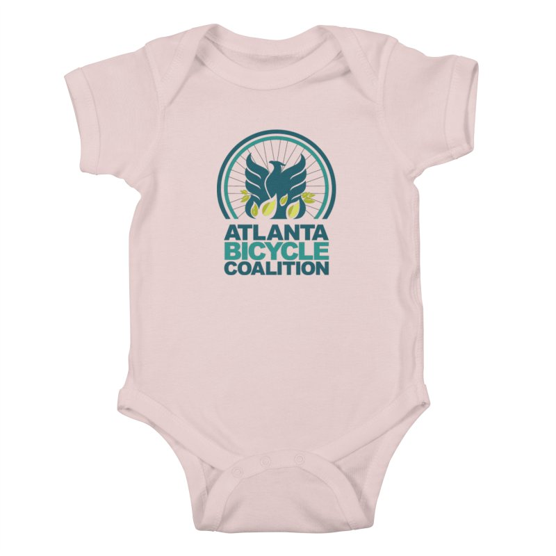 ABC Little Rollers Kids Baby Bodysuit by Atlanta Bicycle Coalition's Merch Shop