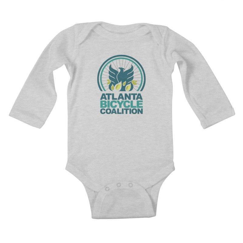 ABC Little Rollers Kids Baby Longsleeve Bodysuit by Atlanta Bicycle Coalition's Merch Shop