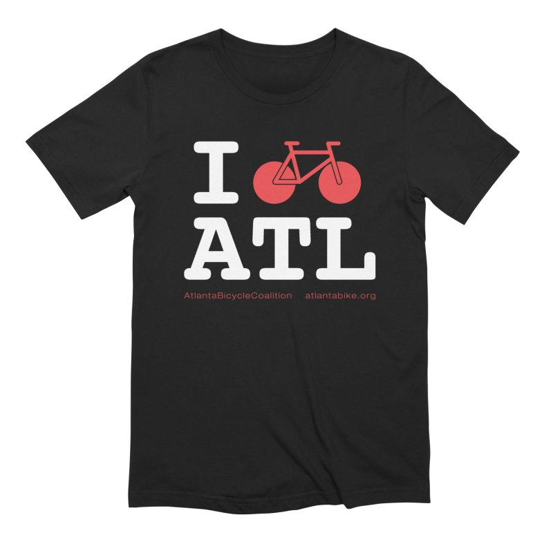 I bike ATL Men's T-Shirt by Atlanta Bicycle Coalition's Merch Shop