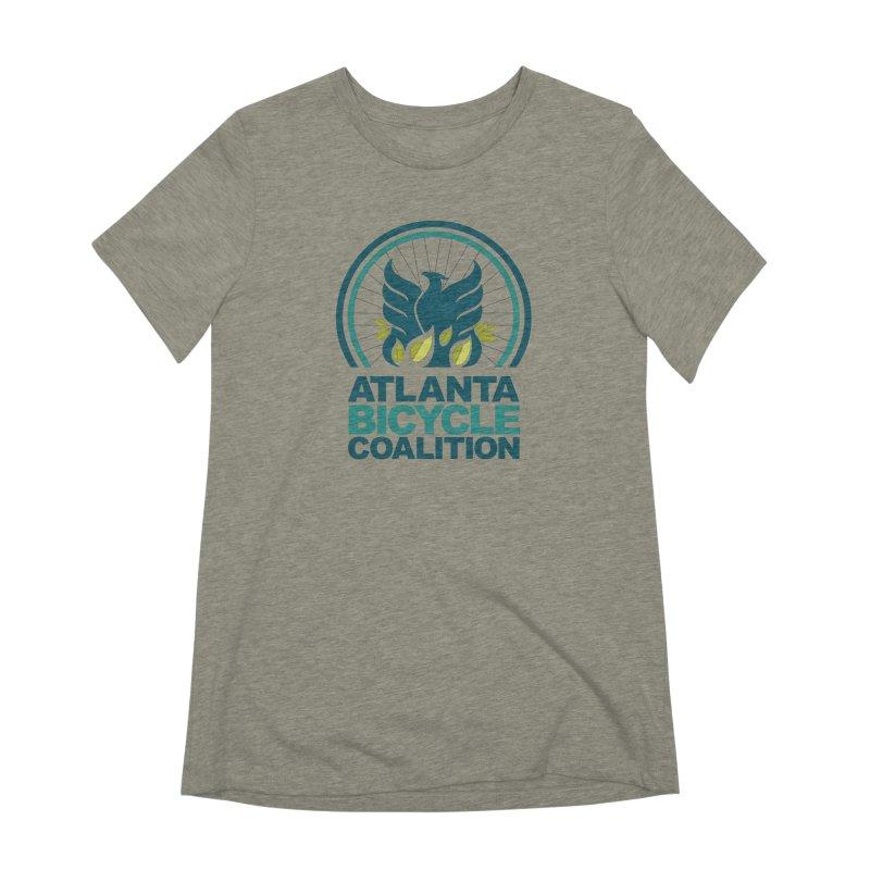 Logo Adult Tees Women's T-Shirt by Atlanta Bicycle Coalition's Merch Shop