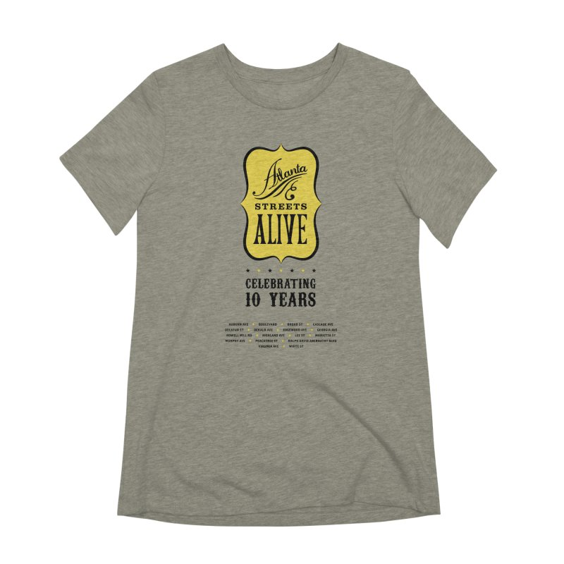 Atlanta Streets Alive 10th Anniversary Women's T-Shirt by Atlanta Bicycle Coalition's Merch Shop