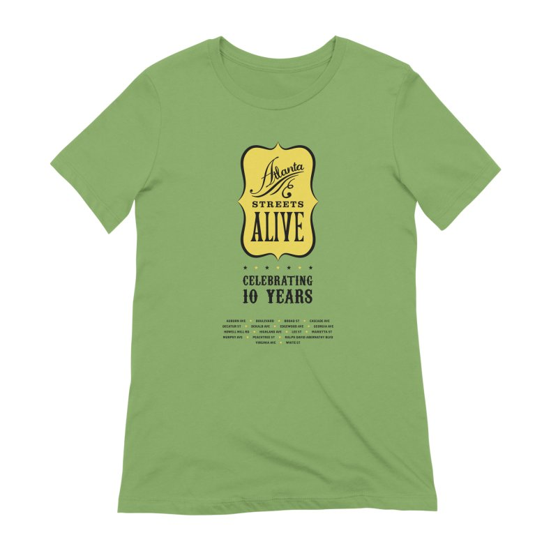 Atlanta Streets Alive 10th Anniversary Women's T-Shirt by Atlanta Bicycle Coalition's Merch Shop