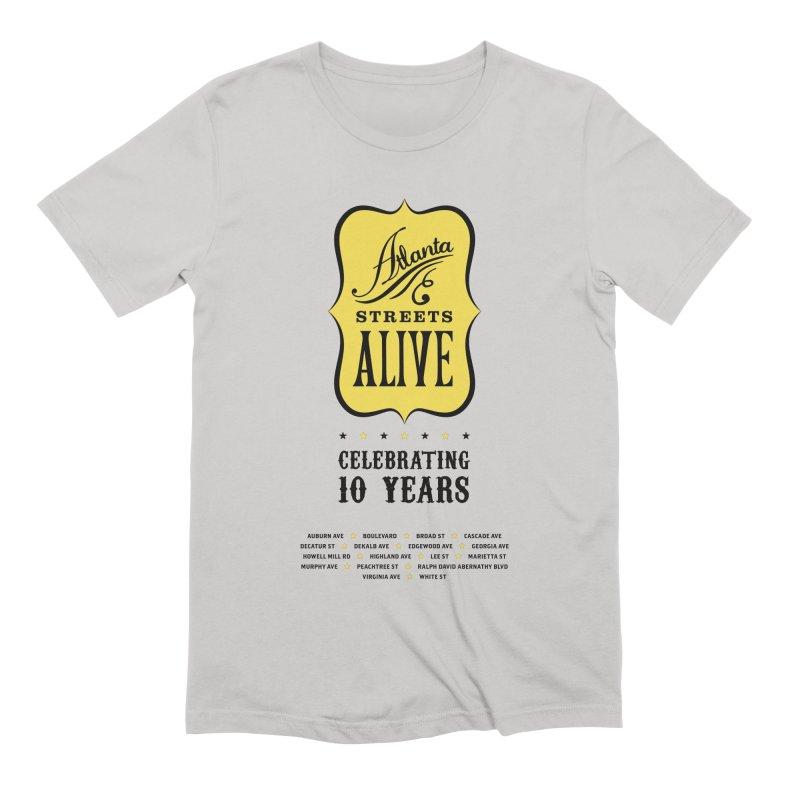 Atlanta Streets Alive 10th Anniversary Men's T-Shirt by Atlanta Bicycle Coalition's Merch Shop