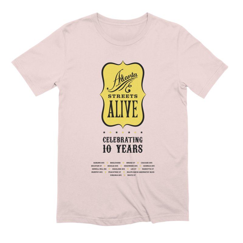Atlanta Streets Alive 10th Anniversary Men's T-Shirt by Atlanta Bicycle Coalition's Merch Shop