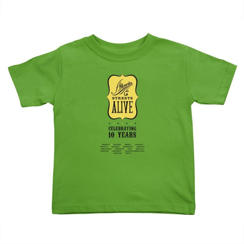 Atlanta Streets Alive 10th Anniversary Kids Toddler T-Shirt by Atlanta Bicycle Coalition's Merch Shop