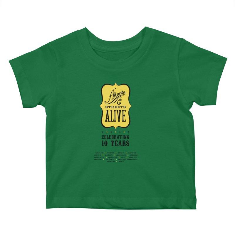 Atlanta Streets Alive 10th Anniversary Kids Baby T-Shirt by Atlanta Bicycle Coalition's Merch Shop
