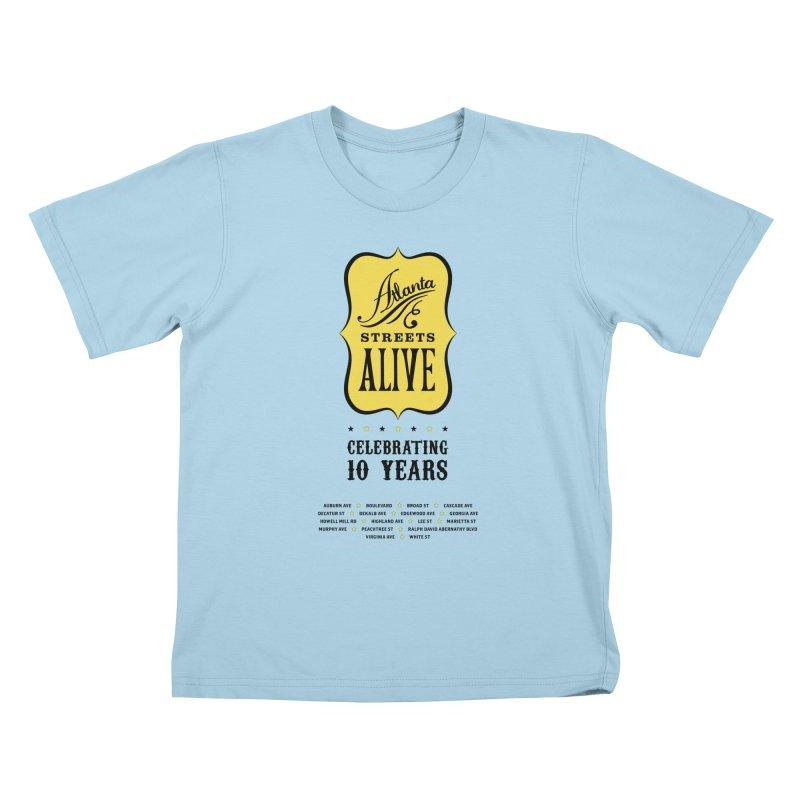 Atlanta Streets Alive 10th Anniversary Kids T-Shirt by Atlanta Bicycle Coalition's Merch Shop