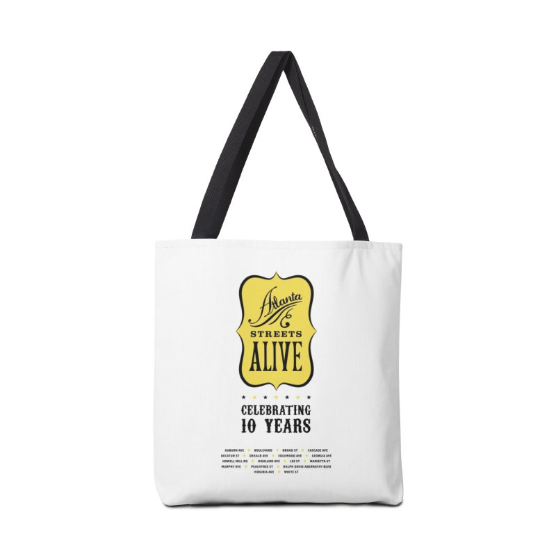 Atlanta Streets Alive 10th Anniversary Accessories Bag by Atlanta Bicycle Coalition's Merch Shop