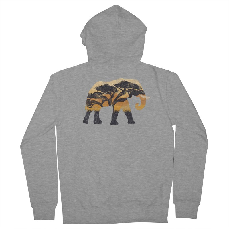 Safari Women's French Terry Zip-Up Hoody by AtomicChild Design