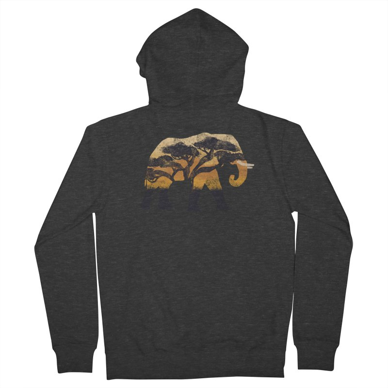 Safari Men's French Terry Zip-Up Hoody by AtomicChild Design