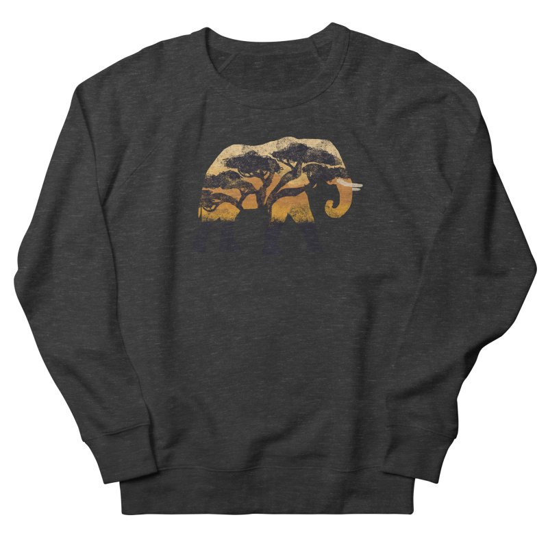 Safari Men's French Terry Sweatshirt by AtomicChild Design
