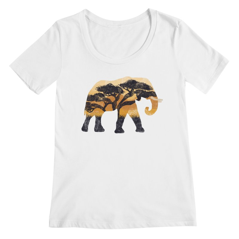 Safari Women's Regular Scoop Neck by AtomicChild Design