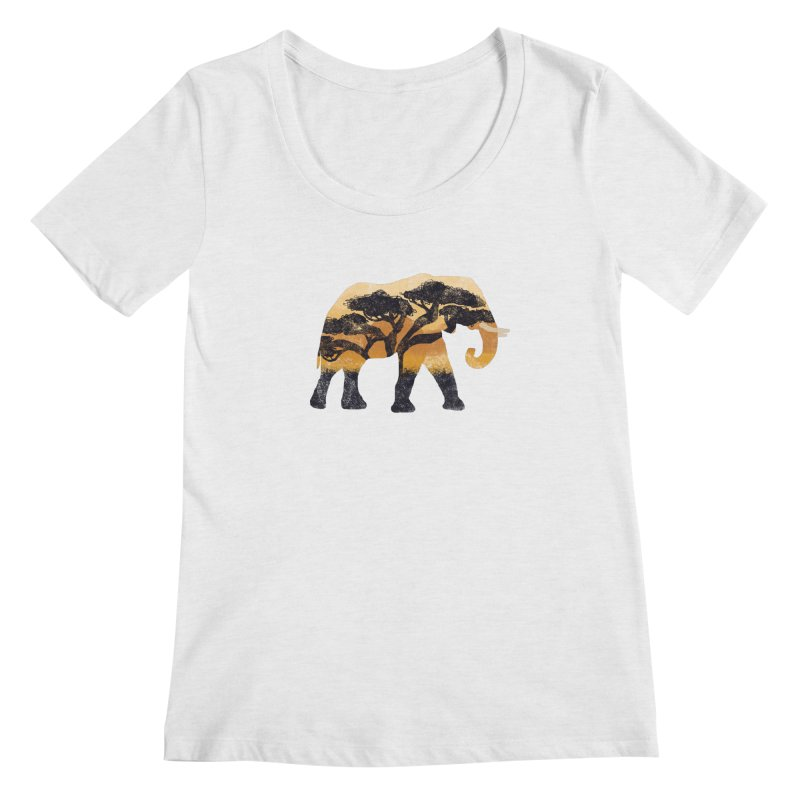 Safari Women's Scoopneck by AtomicChild Design