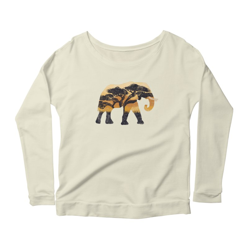 Safari Women's Longsleeve Scoopneck  by AtomicChild Design